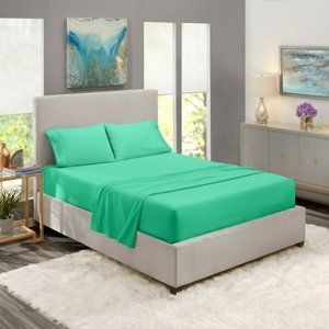 Mint Egyptian Comfort Bed Sheets 4 Piece! Sale!
